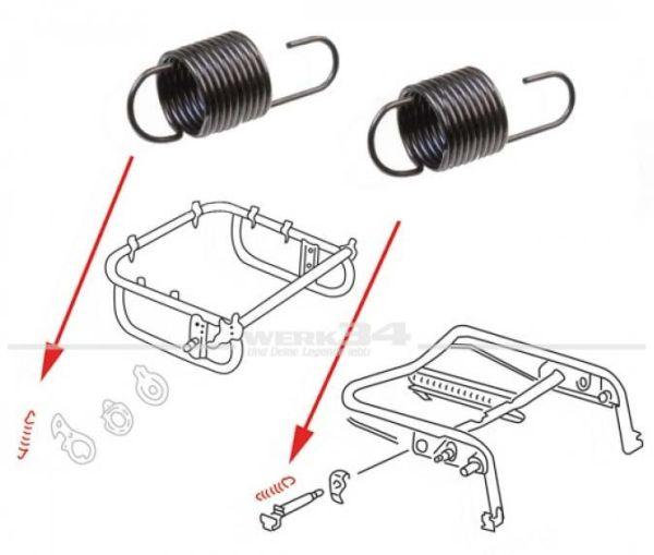 Paar Federn für Sitzverriegelung/Rückenlehne