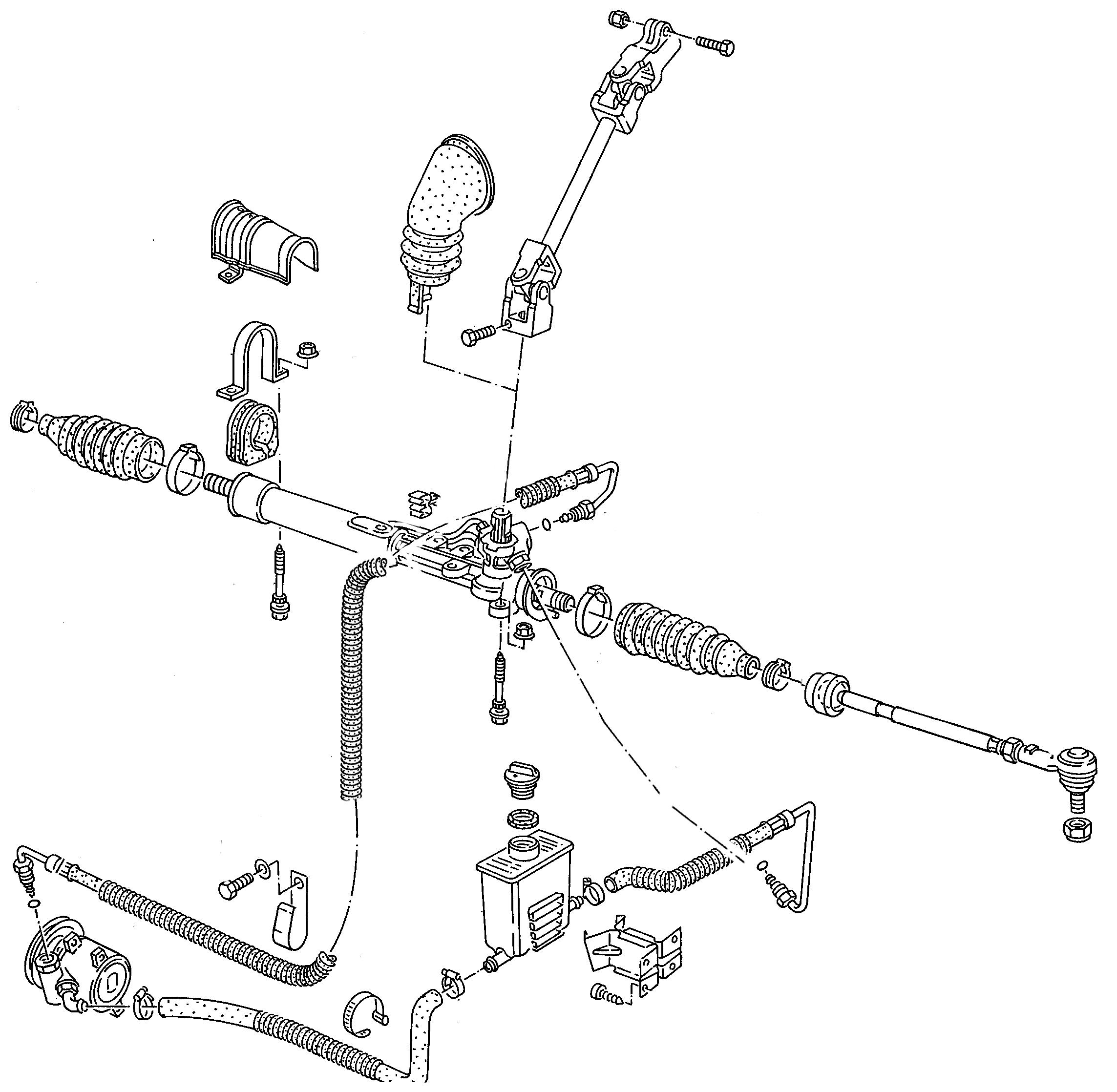 Lenkgetriebe VW Corrado Version TRW mit Grobverzahnung