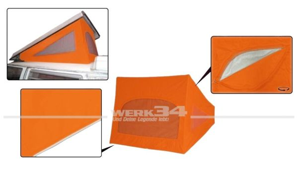 Zelt Westfalia Hubdach / Klappdach, passend für Modelle von 08/67-07/73, orange
