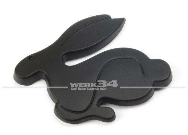"""Emblem """"Rabbit"""", schwarzmatt"""