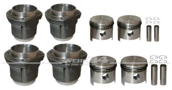 Satz Kolben und Zylinder, geschmiedet, 92 x 69, 1835 ccm Hersteller Mahle
