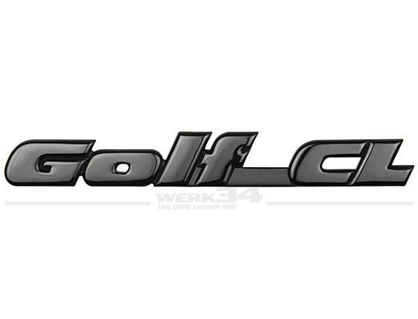 """Schriftzug hinten, """"Golf CL"""", schwarz"""