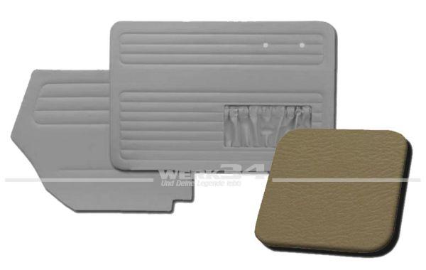 Verkleidungssatz 4-tlg. in Farbe Beige, passend für alle Cabrio ab Bj. 8/64-7/66