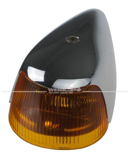 Blinker komplett, passend für alle Modelle von 10/63-07/74 (breite Auführung auf dem Kotflügel)