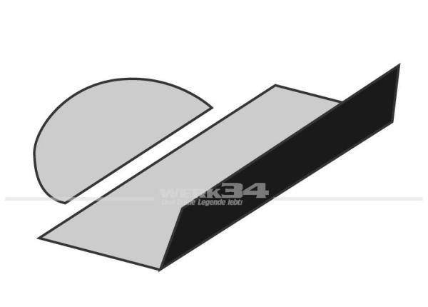 Teppichsatz Kofferraum schwarz Schlingenware 1302 Käfer,Teppichsatz,Innenraum