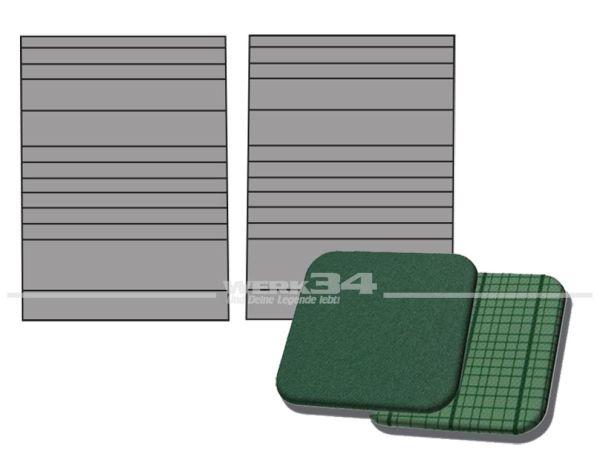 Verkleidung Trennwand außen rechts und links, in Phosphor / Como-Grün