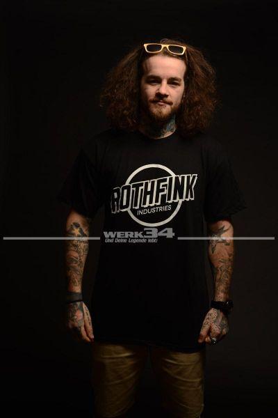 Rothfink One Colour Classic Logo T-Shirt schwarz S