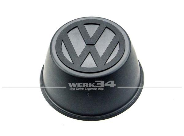 Nabendeckel für Stahlfelge, 80mm Durchmesser, schwarz