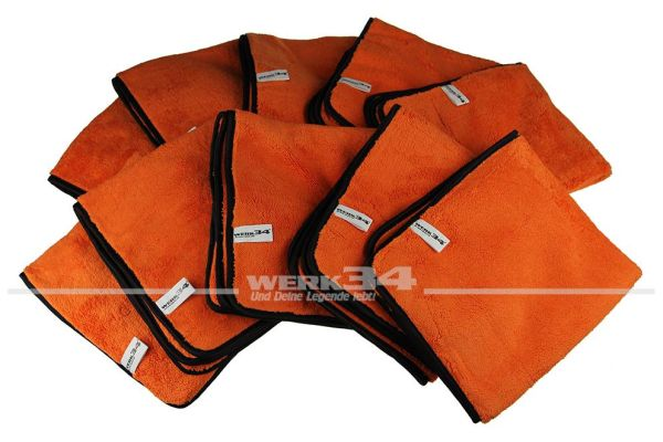 10er Pack - WERK34 Orange Allround Mikrofasertücher 540x440mm