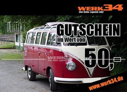 Geschenk - Gutschein im Wert von 50 Euro, Motiv: Bus