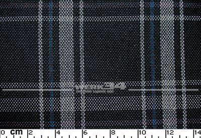 Bezugstoff Schwarz grau blau, Schottenkaro