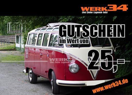 Geschenk - Gutschein im Wert von 25 Euro, Motiv: Bus