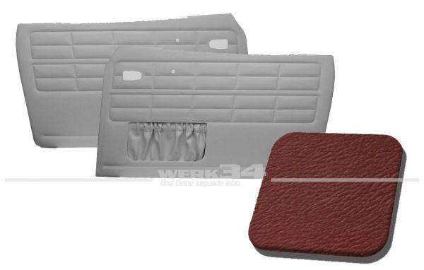 Türverkleidung rot, mit Kartentasche, passend für Karmann Ghia Typ 14, Bj. 1964-74