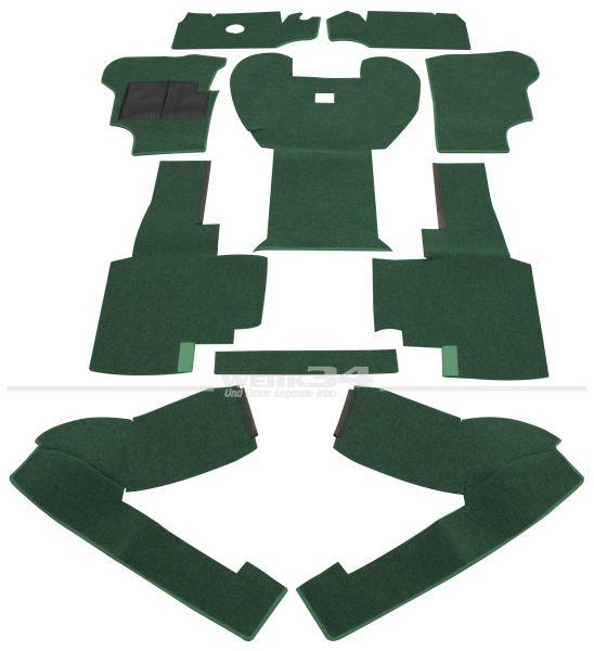 Teppichsatz vorn, Schlinge grün, für Bus T3 Turbo-Diesel ab Bj 08/84