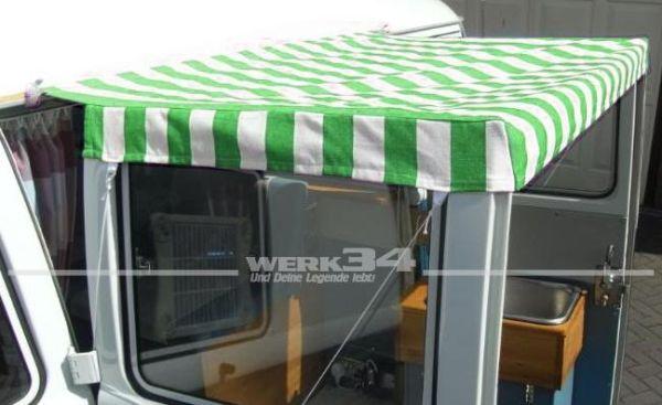 Sonnensegel, grün/weiß gestreift, passend für Bus T1