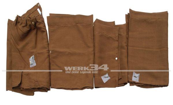 Vorhangset / Gardinen-Set, 10-teilig, braun, passend für Westfalia T2 B