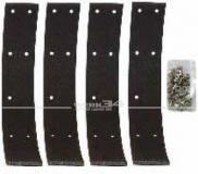 Satz Bremsbeläge zum Aufnieten, 45 mm breit, passend für 1302/1303 (vorn) & Typ 3/34 (hinten)