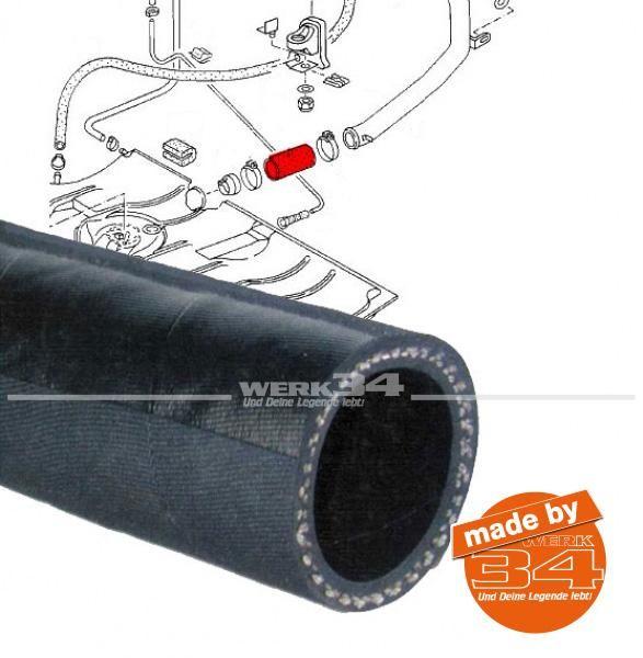 Verbindungsschlauch Einfüllrohr zu Tank, passend für Golf I + Cabrio , Scirocco I