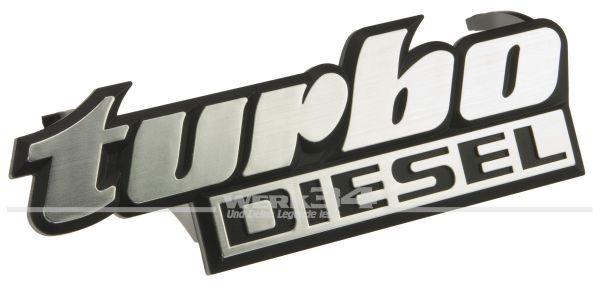 """Schriftzug """"Turbo Diesel"""" für Kühlergrill, passend für Golf II + Jetta II"""