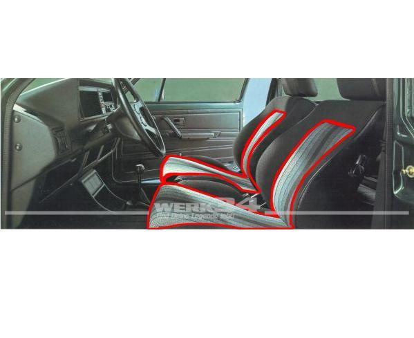 Bezugsstoff Original Pirelli GTI schwarz/grau, Grundpreis: 42,14 EUR pro m2