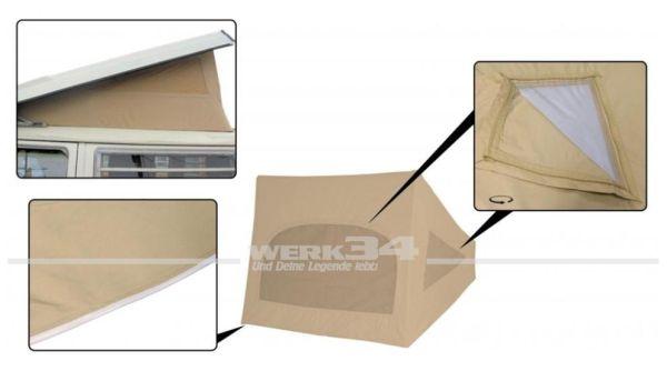 Zelt Westfalia Hubdach / Klappdach, passend für Modelle von 08/67-07/73, beige