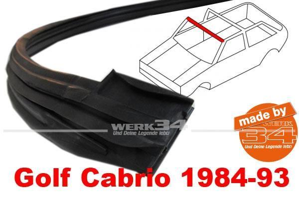 Dichtung für Verdeckspitze, passend für Golf I Cabrio ab 1984