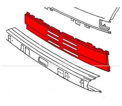 Frontblech Mittelstück, passend für LT -1993