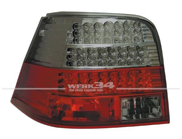 LED Rückleuchten Golf IV, rot schwarz