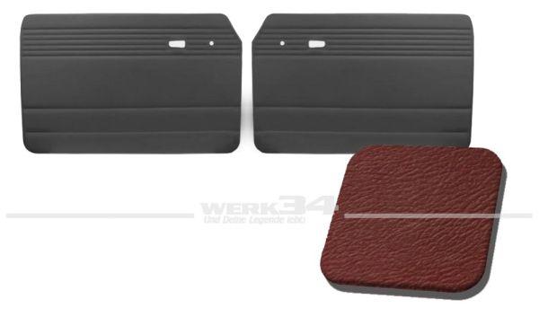 Türverkleidung rot, ohne Kartentasche, passend für Typ 3 Bj. 1961-65