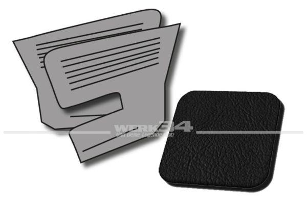 Seitenverkleidungen hinten schwarz, passend für Typ 3 TL, Bj. 1966-72