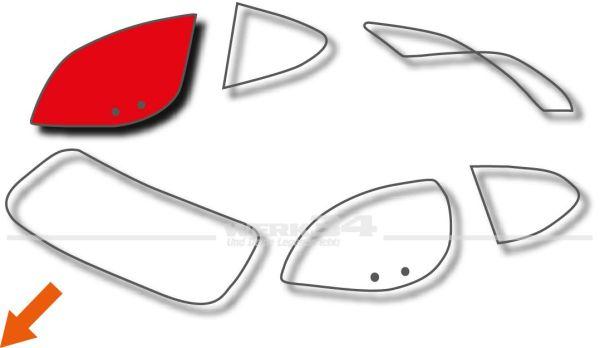 Türscheibe rechts passend für Coupe, gebraucht Karmann,Scheiben