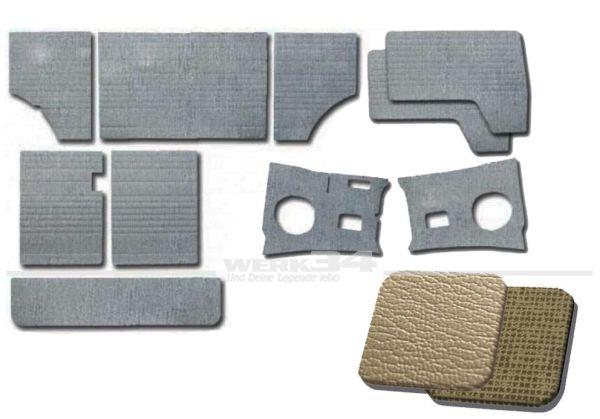 Verkleidungssatz 10-teilig in Silberplatin / Gitterplatin passend für Modelle von 03/61-07/63B