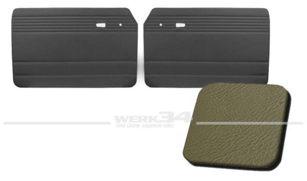 Türverkleidung grau, ohne Kartentasche, passend für Typ 3 Bj. 1961-65