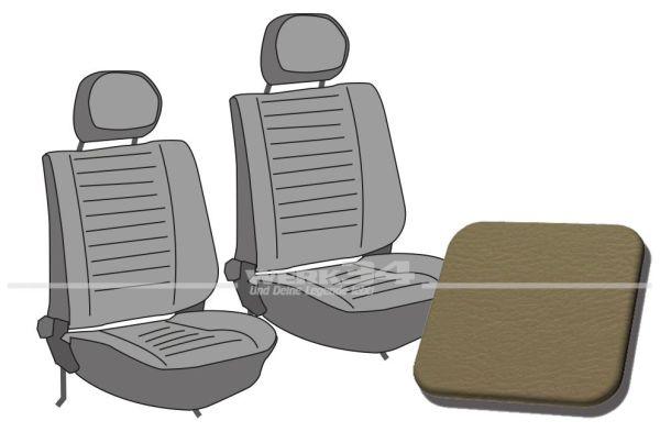 Käfer Sitzbezüge vorn, Glatt beige, Bj. 08/77-79, ohne Kopfstützenbezüge