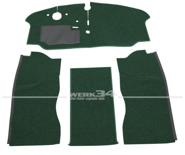 Teppichsatz 4-tlg., Schlinge grün, passend für VW Bus T2 Bj 8/72-7/79