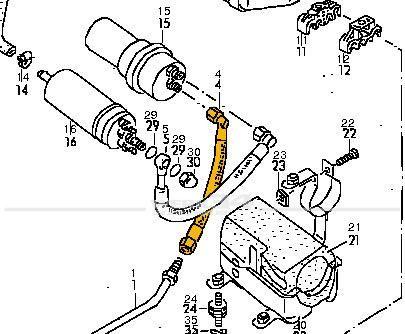 Kraftstoffleitung Druckspeicher Caddy I