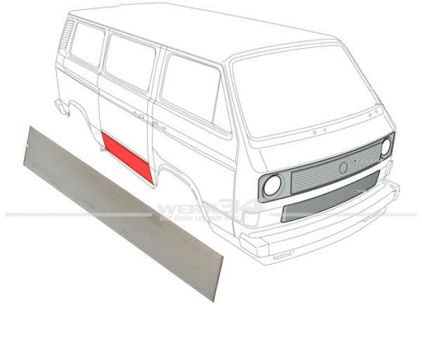 Schiebetür Reparaturblech außen für T3 Bus