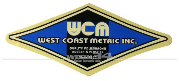 "Aufkleber ""West Coast Metric Inc."""