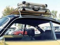 Dachgepäckträger verchromt mit Holzauflagen, passend für Karmann Ghia