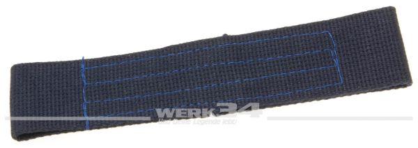 Türfangband für Klapptür, lang, blau, aus Stoff, passend von 55-60