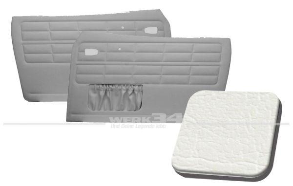Türverkleidung weiß, mit Kartentasche, passend für Karmann Ghia Typ 14, Bj. 1964-74