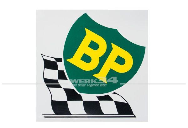 """Aufkleber """"BP"""", groß"""