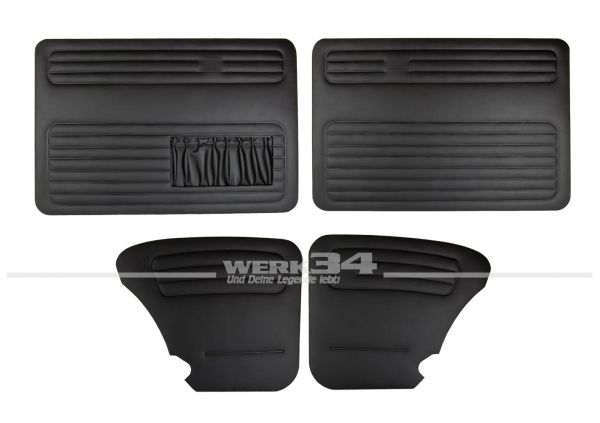 Verkleidungssatz 4-tlg. Limousine in schwarz, passend ab 08/66 Käfer,Innenausstattung