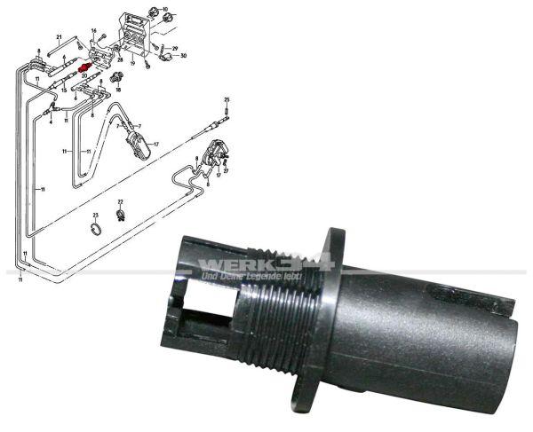 Halter / Führung für Differentialsperren Schalter, Bus T3 Syncro + LT 4x4