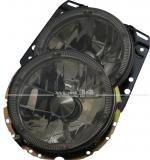 Scheinwerfer mit Standlichtring, schwarz, Klarglas, passend für Golf II