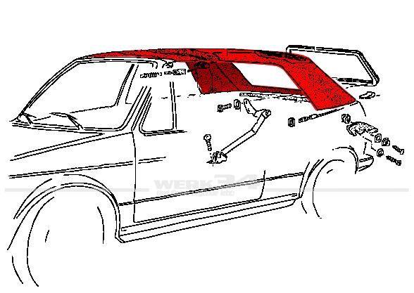 Innenhimmel, passend für Golf I Cabrio (ab Bj. 08/84), schwarz