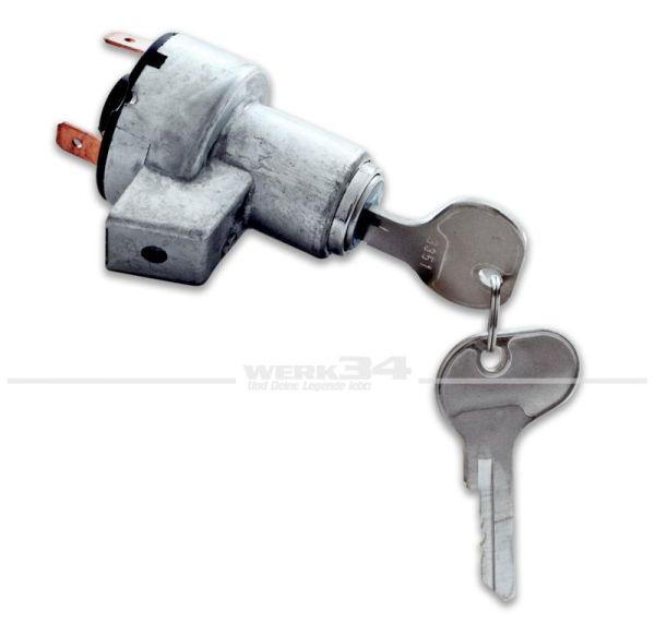 Zündschloss mit 2 Schlüsseln, Bus T1 Bj 03/55 bis 07/67