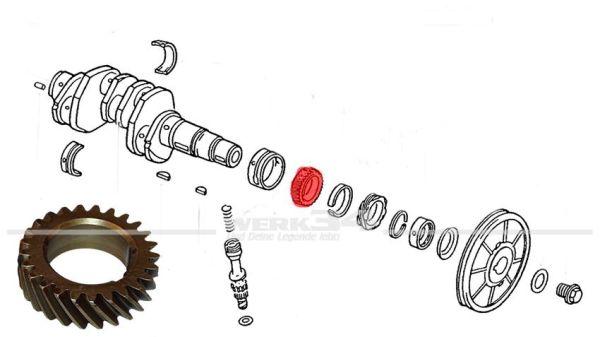 Nockenwellenantriebsrad, passend für 18/22 kW (25/30 PS) NOS