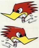 """Aufkleber """"Vogel"""", groß"""