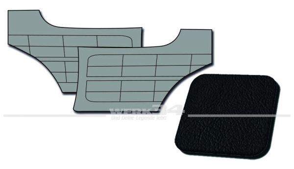 Seitenverkleidungen hinten schwarz, passend für Karmann Ghia Typ 14, Bj. 1958-63